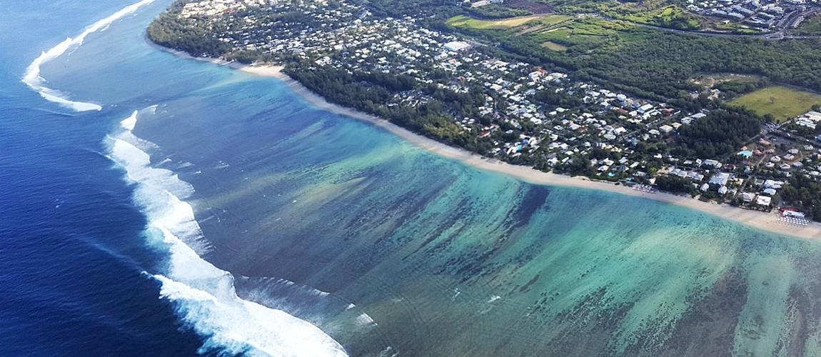 Le lagon à l'Ouest de la Réunion