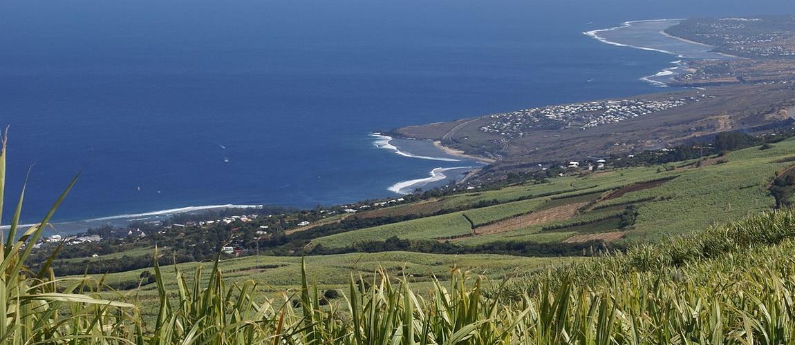 Vue de l'Ouest de l'île de la Réunion